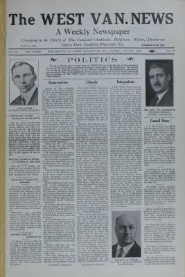 West Van. News (West Vancouver), 6 Jul 1928