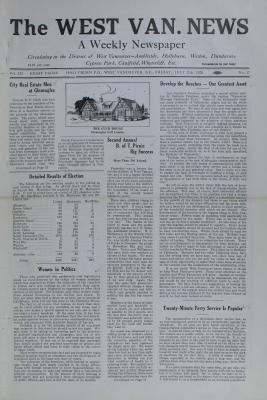 West Van. News (West Vancouver), 27 Jul 1928