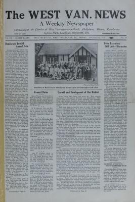 West Van. News (West Vancouver), 3 Aug 1928