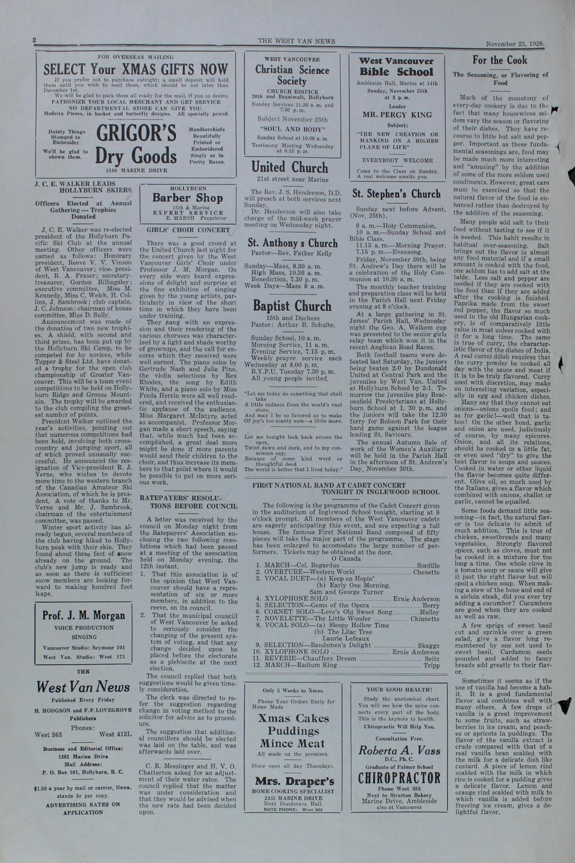 West Van. News (West Vancouver), 23 Nov 1928