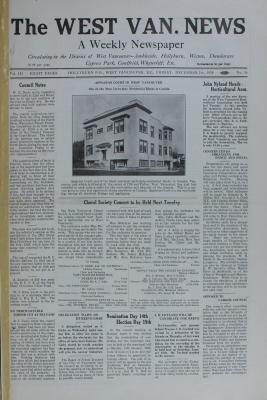 West Van. News (West Vancouver), 7 Dec 1928