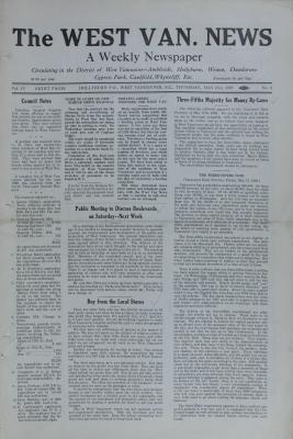 West Van. News (West Vancouver), 23 May 1929