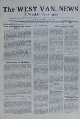 West Van. News (West Vancouver), 31 May 1929