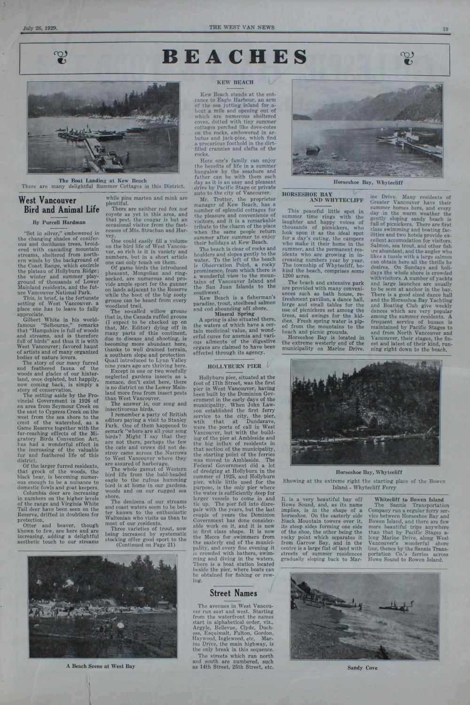 West Van. News (West Vancouver), 26 Jul 1929