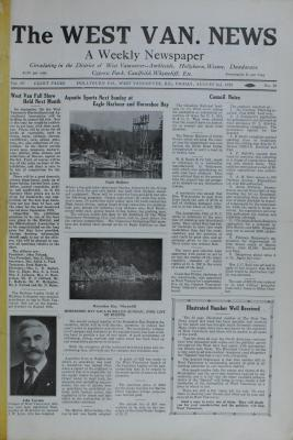 West Van. News (West Vancouver), 2 Aug 1929