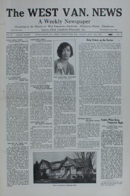 West Van. News (West Vancouver), 20 Sep 1929