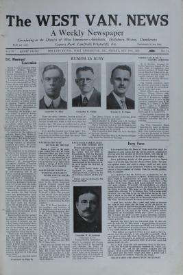West Van. News (West Vancouver), 18 Oct 1929