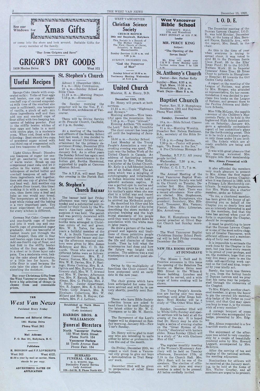 West Van. News (West Vancouver), 13 Dec 1929