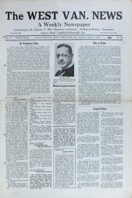 West Van. News (West Vancouver), 14 Feb 1930