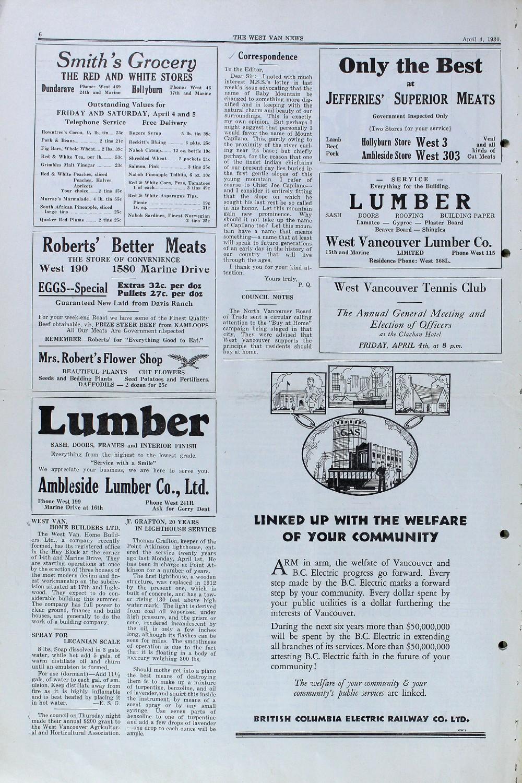 West Van. News (West Vancouver), 4 Apr 1930