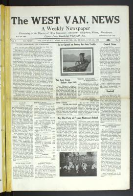 West Van. News (West Vancouver), 6 Jun 1930