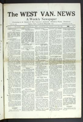 West Van. News (West Vancouver), 25 Jul 1930