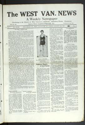 West Van. News (West Vancouver), 15 Aug 1930