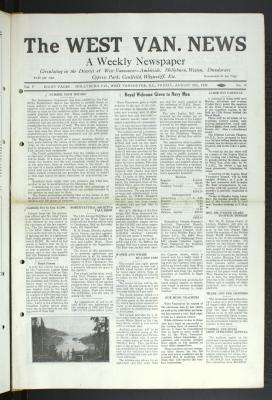 West Van. News (West Vancouver), 29 Aug 1930