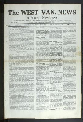West Van. News (West Vancouver), 26 Sep 1930