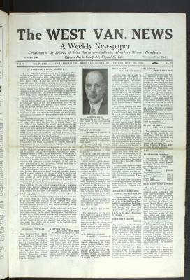 West Van. News (West Vancouver), 24 Oct 1930