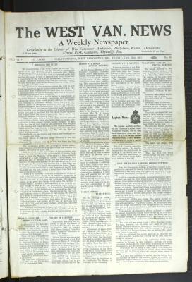 West Van. News (West Vancouver), 30 Jan 1931