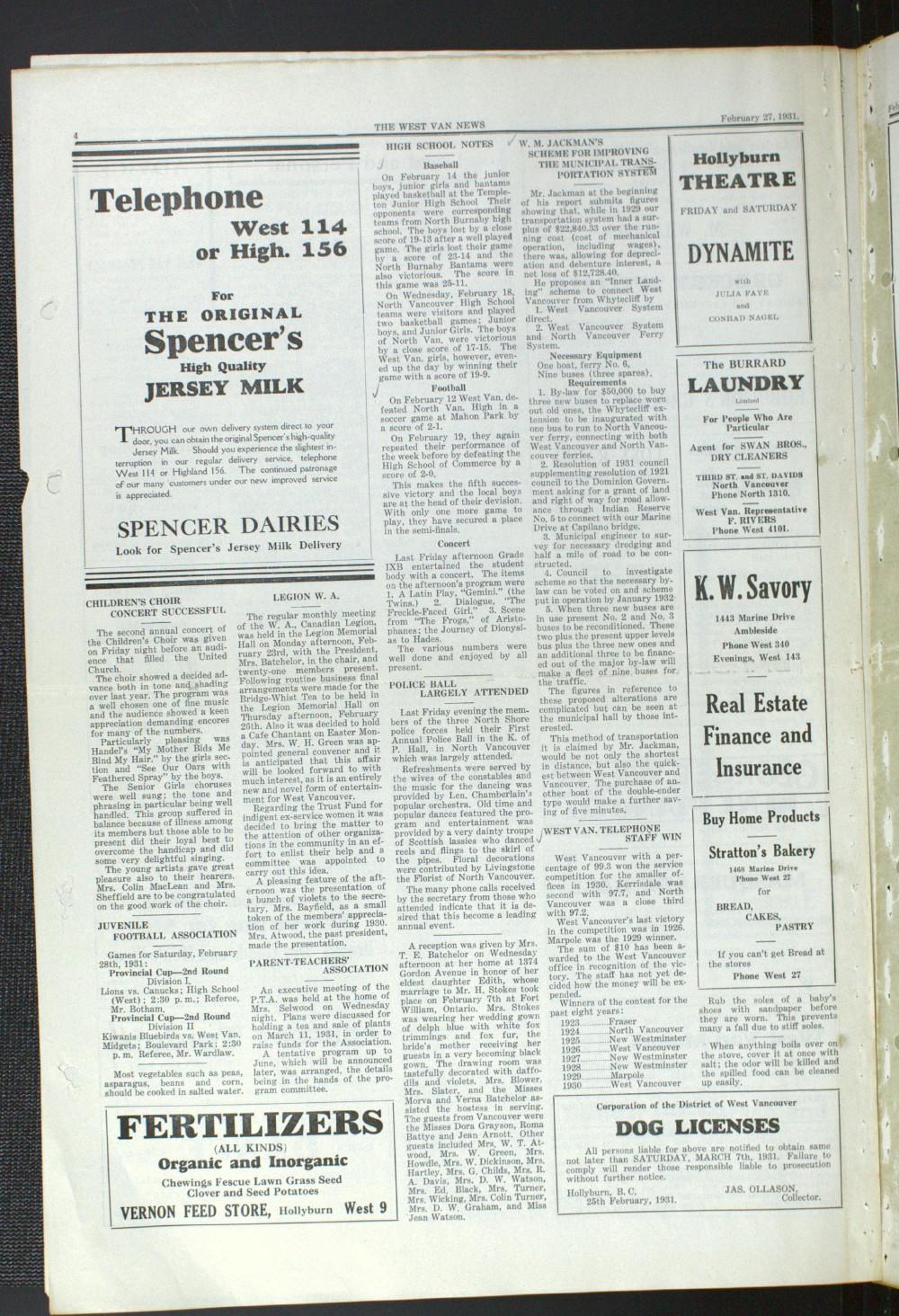 West Van. News (West Vancouver), 27 Feb 1931