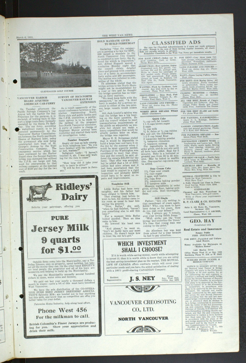 West Van. News (West Vancouver), 6 Mar 1931