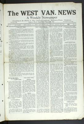 West Van. News (West Vancouver), 29 May 1931