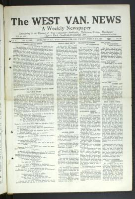 West Van. News (West Vancouver), 27 Mar 1931