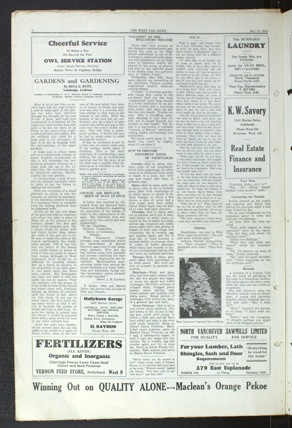 West Van. News (West Vancouver), 15 May 1931