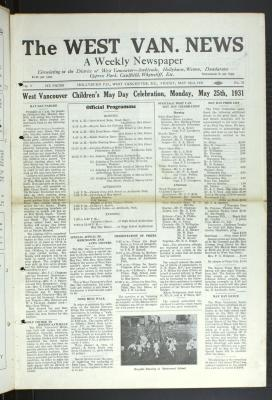 West Van. News (West Vancouver), 22 May 1931