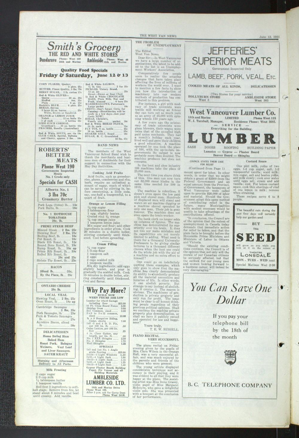 West Van. News (West Vancouver), 12 Jun 1931