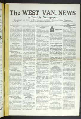 West Van. News (West Vancouver), 3 Jul 1931