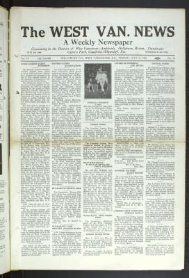 West Van. News (West Vancouver), 31 Jul 1931