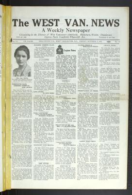 West Van. News (West Vancouver), 2 Oct 1931