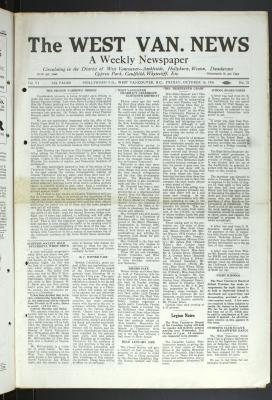West Van. News (West Vancouver), 16 Oct 1931