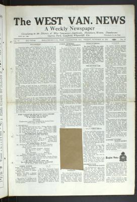 West Van. News (West Vancouver), 30 Oct 1931