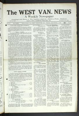 West Van. News (West Vancouver), 11 Dec 1931