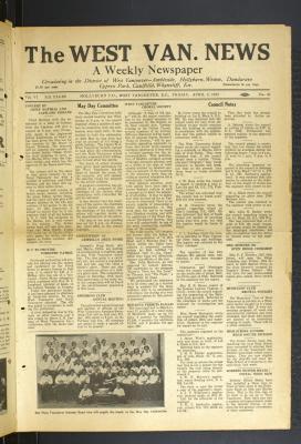 West Van. News (West Vancouver), 8 Apr 1932