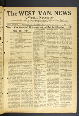 West Van. News (West Vancouver), 20 May 1932