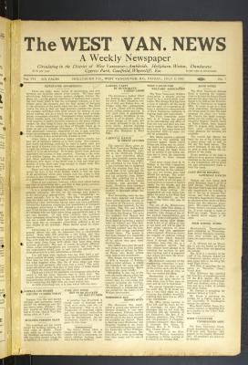 West Van. News (West Vancouver), 8 Jul 1932