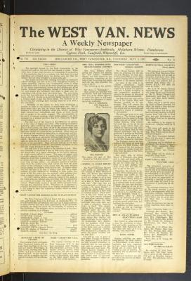 West Van. News (West Vancouver), 8 Sep 1932