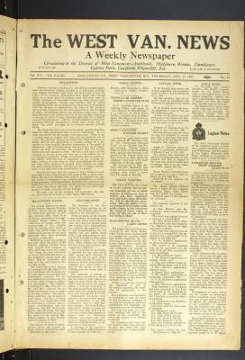 West Van. News (West Vancouver), 27 Oct 1932