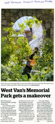 West Van's Memorial Park gets a makeover newspaper clipping