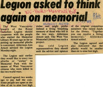 Legion asked to think again on memorial