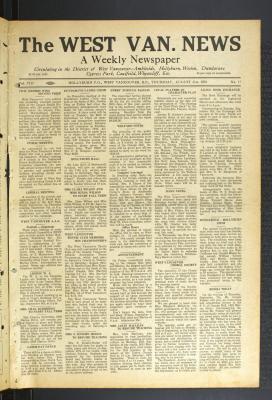 West Van. News (West Vancouver), 31 Aug 1933