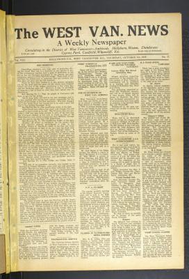 West Van. News (West Vancouver), 5 Oct 1933