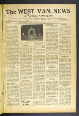 West Van. News (West Vancouver), 2 Nov 1933