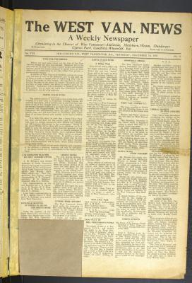 West Van. News (West Vancouver), 7 Dec 1933