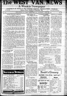 West Van. News (West Vancouver), 5 Apr 1934