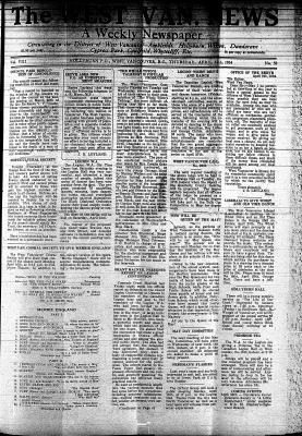 West Van. News (West Vancouver), 12 Apr 1934