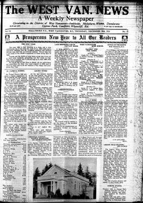 West Van. News (West Vancouver), 28 Dec 1934
