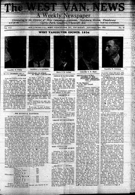 West Van. News (West Vancouver), 18 Jan 1934