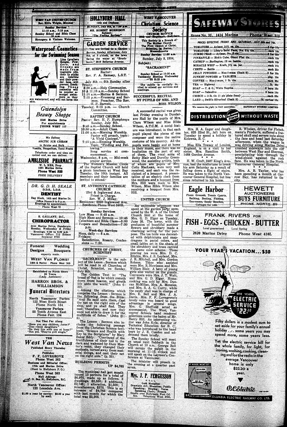 West Van. News (West Vancouver), 5 Jul 1934